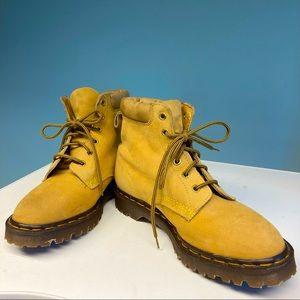 DR MARTENS 6 Eye 939 Greasy Suede Tan Boots Sz 10